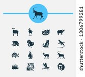 animal icons set with penguin ... | Shutterstock .eps vector #1306799281