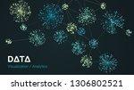 vector abstract big data... | Shutterstock .eps vector #1306802521