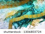 aquamarine  abstract clouds art.... | Shutterstock . vector #1306803724