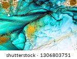 aquamarine  abstract clouds art.... | Shutterstock . vector #1306803751