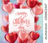 mothers day greeting card with... | Shutterstock .eps vector #1306822447