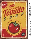 tomato soup vintage metal sign... | Shutterstock .eps vector #1306824487