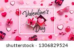 valentine's day sale poster or... | Shutterstock .eps vector #1306829524