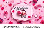 valentine's day poster or... | Shutterstock .eps vector #1306829527