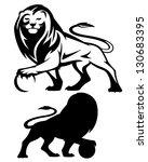 lion holding a ball   vector... | Shutterstock .eps vector #130683395