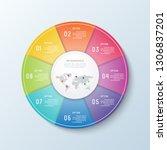 timeline infographic.business... | Shutterstock .eps vector #1306837201