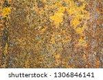 rusted metal texture background | Shutterstock . vector #1306846141