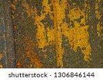 rusted steel background texture ... | Shutterstock . vector #1306846144