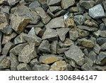 pebble stone wall | Shutterstock . vector #1306846147