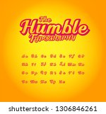 vector of bold modern font and... | Shutterstock .eps vector #1306846261