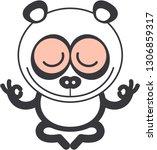 nice cartoon panda bear with... | Shutterstock .eps vector #1306859317