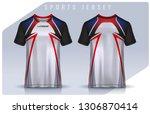 t shirt sport design template ... | Shutterstock .eps vector #1306870414