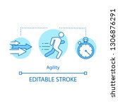 agility concept icon.... | Shutterstock .eps vector #1306876291