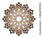 laser cutting mandala. wooden...   Shutterstock .eps vector #1306878934
