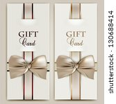 collection of gift cards with... | Shutterstock .eps vector #130688414