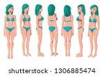vector illustration of smiling... | Shutterstock .eps vector #1306885474