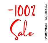 100  discount sale on white...   Shutterstock .eps vector #1306885861