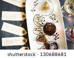 tasting of wine and pattie... | Shutterstock . vector #130688681
