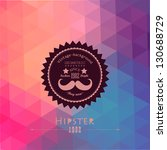 hipster background made of... | Shutterstock .eps vector #130688729