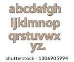 home bread small alphabet on...   Shutterstock . vector #1306905994