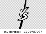vs. versus letter logo. battle... | Shutterstock .eps vector #1306907077