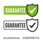 quality guarantee. stamp.... | Shutterstock .eps vector #1306908721