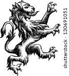 heraldic lion | Shutterstock .eps vector #130691051