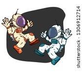 cosmonaut icon. vector... | Shutterstock .eps vector #1306912714