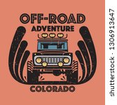 off road car lovers poster.... | Shutterstock .eps vector #1306913647