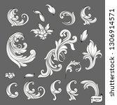 vector image. set of element... | Shutterstock .eps vector #1306914571
