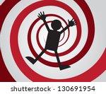 figure falling down red spiral   Shutterstock .eps vector #130691954