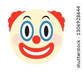 clown emoji face vector