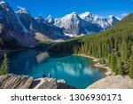 moraine lake  valley of the ten ... | Shutterstock . vector #1306930171