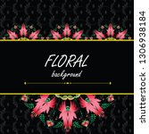 floral pattern and insert for... | Shutterstock .eps vector #1306938184