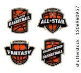 set of basketball sports logos. | Shutterstock . vector #1306960957