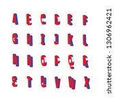isometric alphabet font. 3d... | Shutterstock .eps vector #1306962421