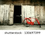 Old Style Red Bicycle And...
