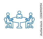 business meeting icon vector  ... | Shutterstock .eps vector #1306990954