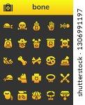 bone icon set. 26 filled bone... | Shutterstock .eps vector #1306991197