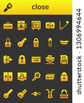 close icon set. 26 filled close ...   Shutterstock .eps vector #1306994644
