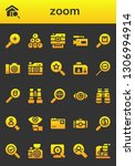 zoom icon set. 26 filled zoom... | Shutterstock .eps vector #1306994914