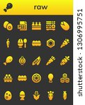 raw icon set. 26 filled raw... | Shutterstock .eps vector #1306995751