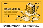 travel agency  online booking... | Shutterstock .eps vector #1307001967