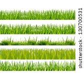 green grass on the white...   Shutterstock . vector #130700531
