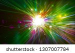 abstract background. explosion... | Shutterstock . vector #1307007784