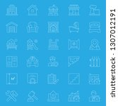 set of real estate icons.... | Shutterstock .eps vector #1307012191