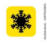 snowflake icon vector. vector...   Shutterstock .eps vector #1307014831