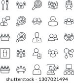 thin line icon set   spoon and... | Shutterstock .eps vector #1307021494