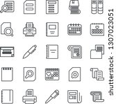 thin line icon set   contract... | Shutterstock .eps vector #1307023051