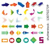 arrows   set   isolated on... | Shutterstock .eps vector #130702739